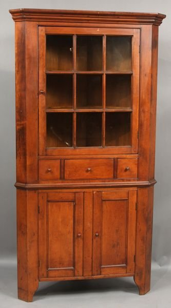 4003: Early 20th C. Conant-Ball Corner Cupboard