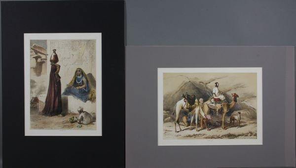 4015: (2) Prints, Dromedaries, Egyptians, J. Madden