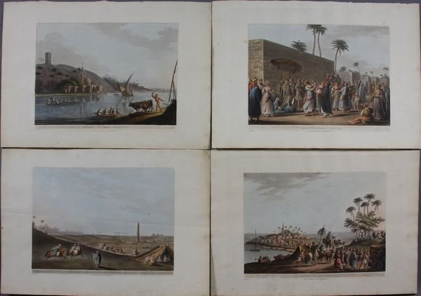 4019: Group of Four (4) Prints w/ Egyptian Subjects