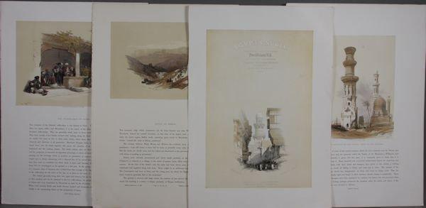 4021: David Roberts, (4) Prints of Egypt and Nubia