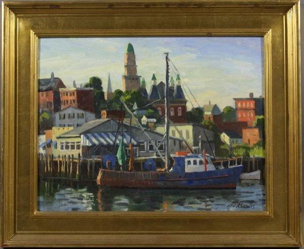 4101: Ken Knowles, City Hall, Dockside Restos, o/b