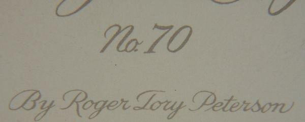 "4379: Litho Print ""Snowy Egret"", Roger Tory Peterson - 3"
