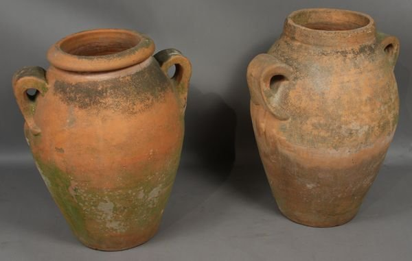 4010: (2) Early 20th C. Olive Jars