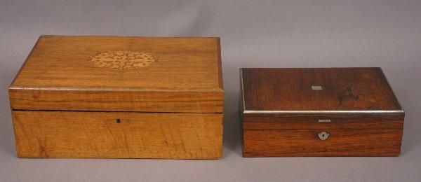 2: 19TH CENTURY LAP DESK & SEWING BOX
