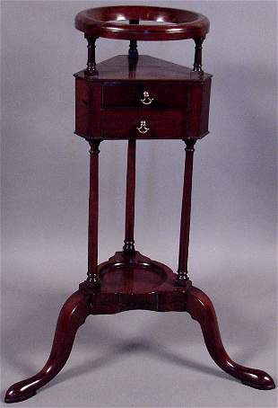 LATE 18TH CENTURY ENGLISH QUEEN ANNE WIG STAND