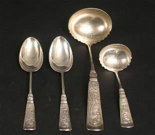 GORHAM STERLING SERVING PIECES 'FONTAINEBLEAU'