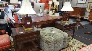 Pair of mahogany French empire style nightstands