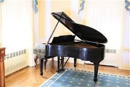 Steinway baby grand black ebonized piano Model M