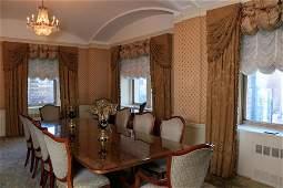 Set of 14 shield back mahogany and uphol. Dining room