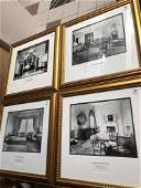 Lot of 4 interior photographs; salon of a luxurious