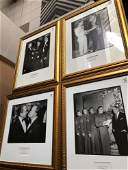 Lot of 4 photographs of political figures; General