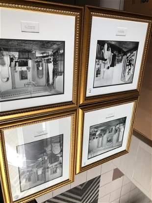 Lot of 4 photographs of interiors main salon 2