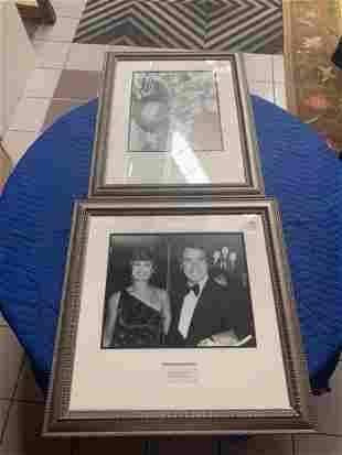 Lot of 2 photographs of celebrities Guy Lombardo Mr