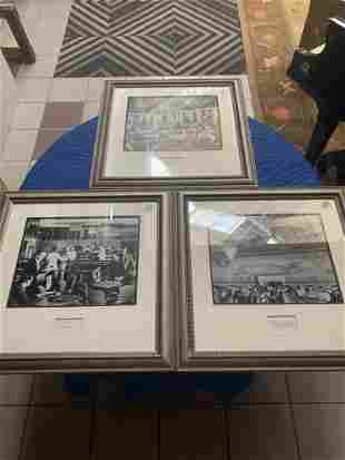 Lot of 3 photographs of interiors the Sert Room the