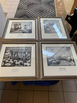 Lot4 interior photographs in silver frames
