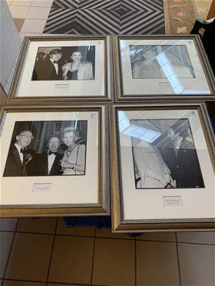 Lot4 photographs of celebrities in silver frames