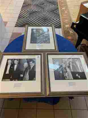Lot3 of photographs of presidential figures in silver
