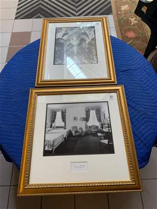 Lot2 photographs of interiors in gold frames