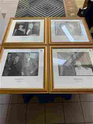 Lot4 photographs of celebrities in gold frames