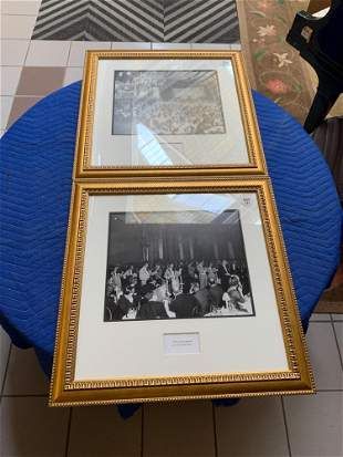 Lot2 photographs of partiesevents in gold frames