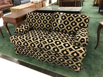 Black and gold loveseat