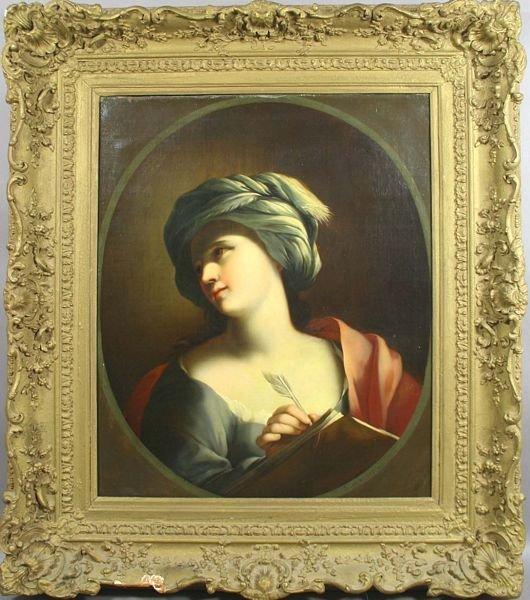 5101: 17/18th C. Portrait of Woman, o/c, S. Mazzolino
