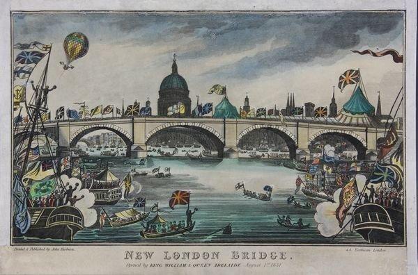 "5006: C1831 HC Engraving ""New London Bridge"""