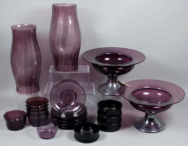 5020: (24) pc Collection of 19/20th C. Amethyst Glass