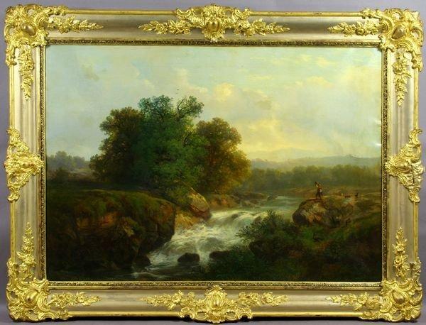 6105: Sgnd Hermann Herzog, Country Landscape, o/c