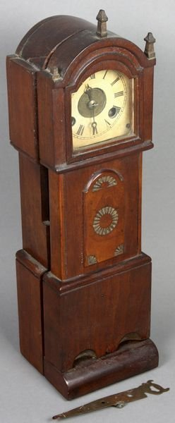6005: 19th C. Country Miniature Grandfather Clock