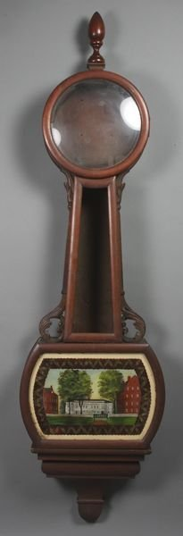 6010: 19th Century Banjo Clock Case Mahogany