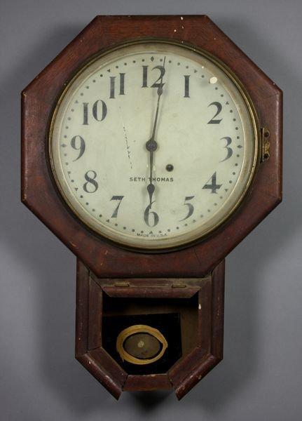 6012: Seth Thomas Schoolhouse Clock