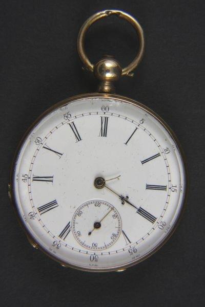 6042: 14k Gold H. Montandon Key Wind Pocket Watch