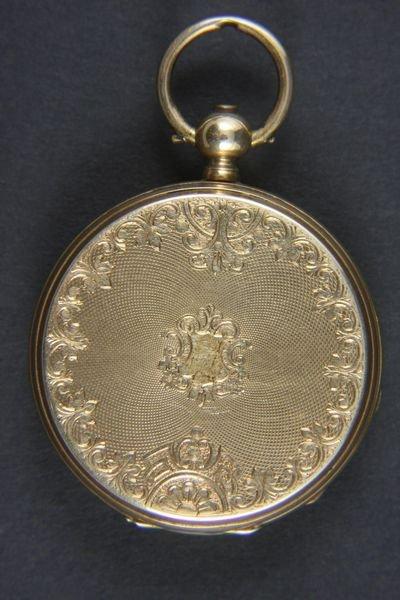 6042: 14k Gold H. Montandon Key Wind Pocket Watch - 2
