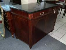 Lot of 2 Regency style bureaus with marble top together