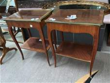 Pair of Antique French Lamp Tables