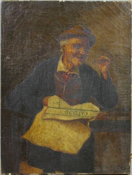 2: 19th C. Continental, Portrait of Gentleman, o/c