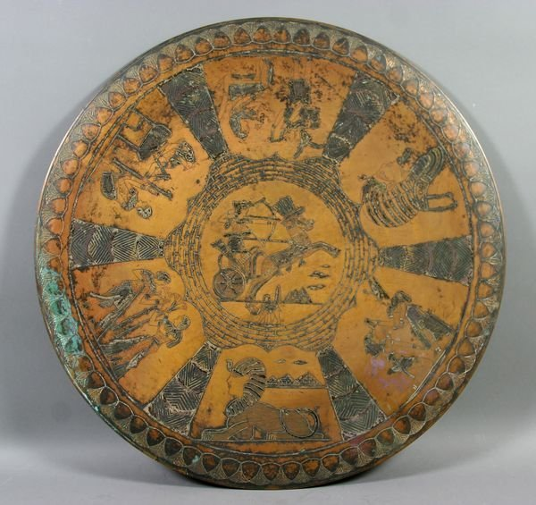 4: 19/20thC Egyptian-style Copper Hanging Plaque