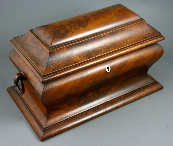 7: Early 19th C. Federal Mahogany Tea Caddy