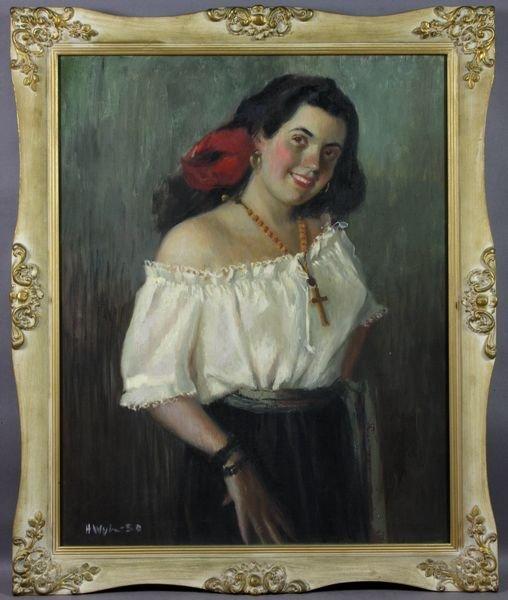 17: Attrib Helen Van Wyk, Portrait D. Greenlaw, o/c