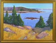 189: Signed Paul Noble James, Great Head, Acadia, o/c