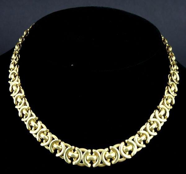 "244: Ladies 14k Gold Graduated Link Necklace, 19"""