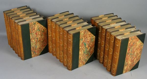 "1008A: (19) Leatherbound Vols, ""Works of Disraeli"""