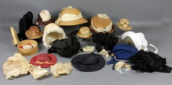 1039: (2) Doll and Children's Hats, Some French Style