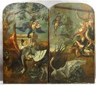 1170: (2) 18th C. Italian Works, Game Animals, o/c