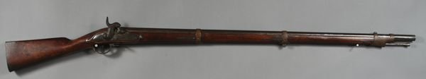 1196: Austrian Percussion Musket, Marked Neisse