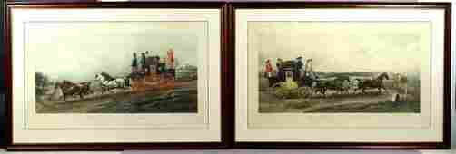 1263 Two 2 19th20th C English Colored Prints