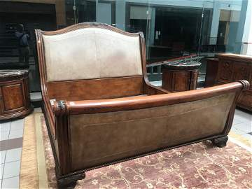 Lexington Furniture Carved Burl Wood 5 Piece Bedroom