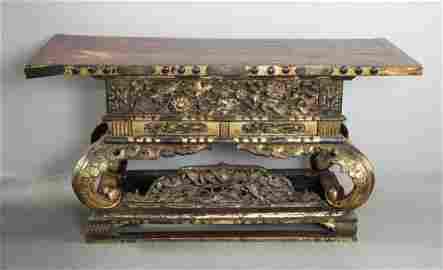 19th C Japanese Altar Table
