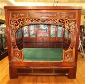 Important 19th C Chinese Opium Bed